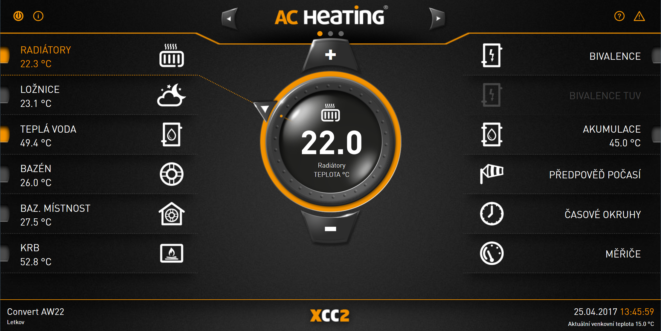 xcc2 screen_AC Heating_ regulace_2